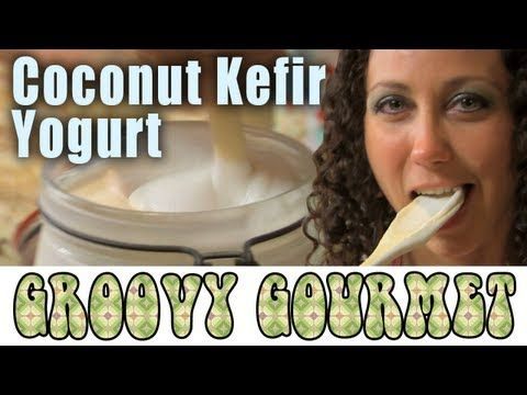 Vegan Raw Dairy-free Coconut Kefir Yogurt - Groovy Gourmet - YouTube