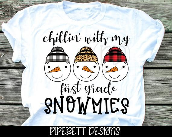 Chillin With My Snowmies First 1st Grade Buffalo Plaid Etsy Teacher Shirts Plaid And Leopard Shirt Clipart