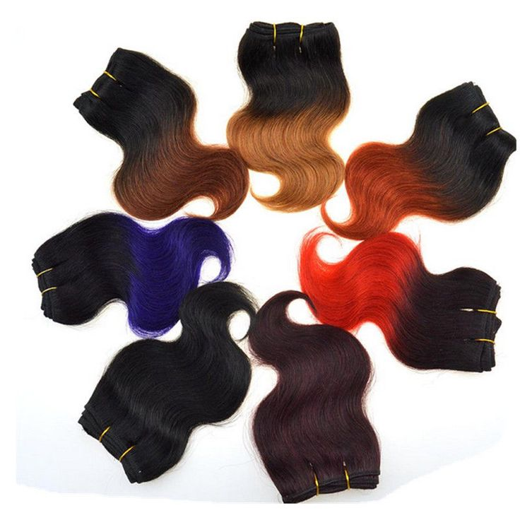 8'' OMBRE Brazilian Body Wave real Human Hair Extensions Weft 7A remy hair weave #Unbranded #WaveBundle