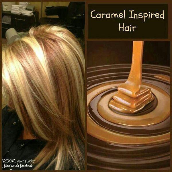 Caramel and blonde highlights hair by SandeM