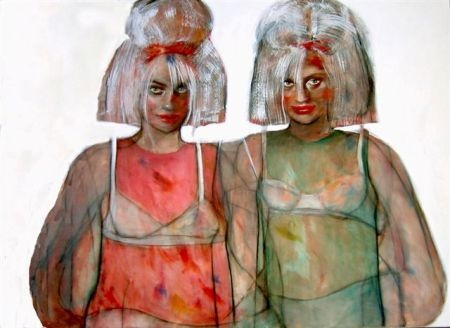Esther Erlich    Retro - 2009    Acrylic on canvas    122 x 168 cm