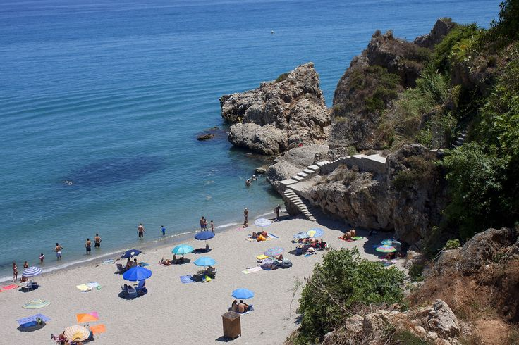 Carabeo beach,Nerja in Spain