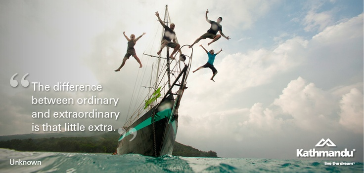 """""""The difference between ordinary and extraordinary is that little extra."""" - Unknown #quote #motivational #travel"""