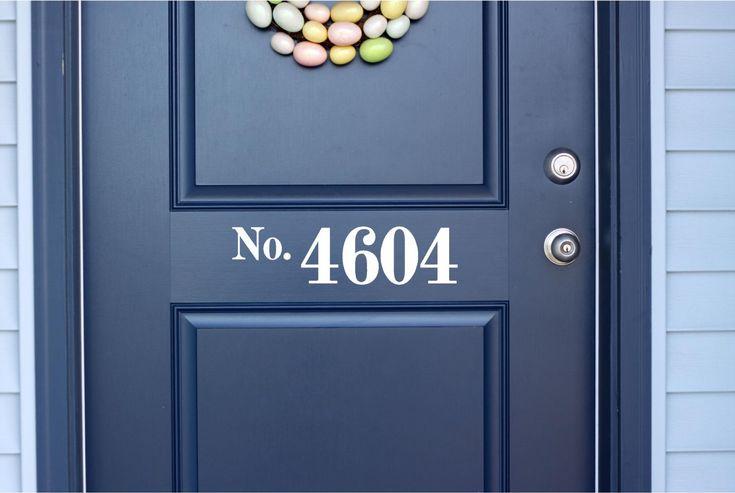 Custom House Number Vinyl Door Decal - Front Door Decals, Home Office Decorations, Custom House Number Vinyl Decals, Vinyl Lettering Numbers by TheVinylCompany on Etsy