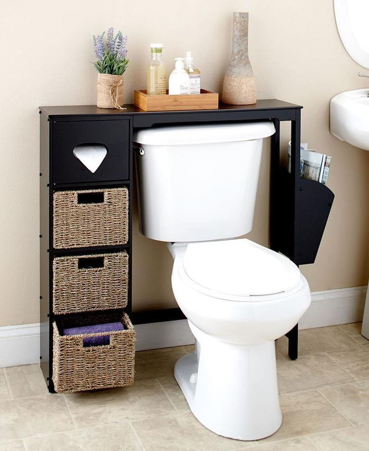 this wooden bathroom spacesaver or baskets appeals to your desire for functional decor with a cl