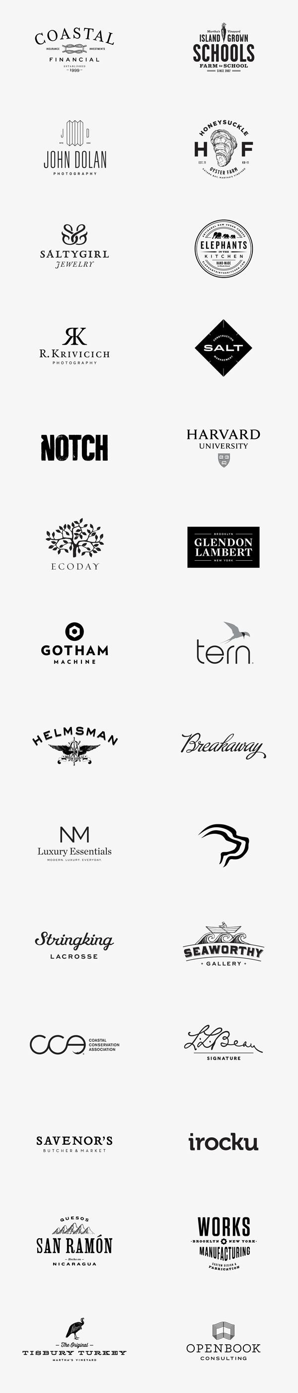 This is an assortment of well designed logos and logotypes created by Bluerock Design for different branding and rebranding projects. Bluerock Design is a studio that offers professional graphic design solutions for print and web with main focus on brand development.: