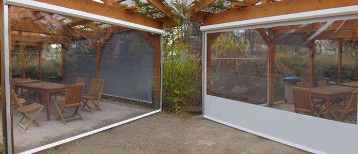 Flexi-Fenster  Folien-Rollo an Balkon als wind und Regenschutz für terrasse?