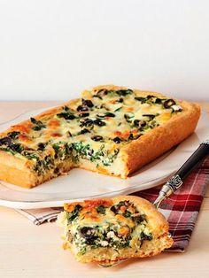 Zeytinli ve pazılı tart Tarifi - Hamur İşleri Yemekleri - Yemek Tarifleri
