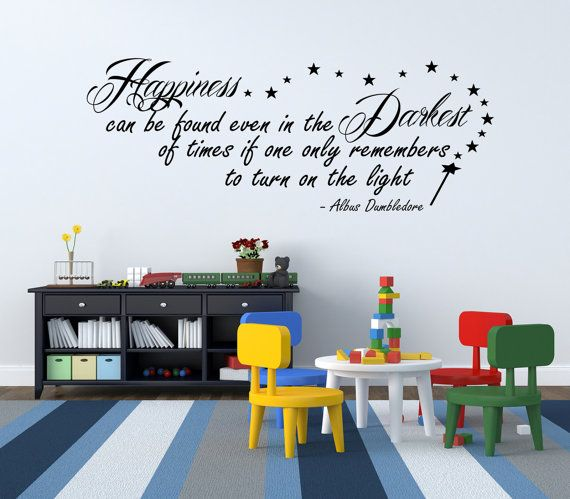 Harry Potter Happiness Can Be Found Dumbledore by WWDecals on Etsy