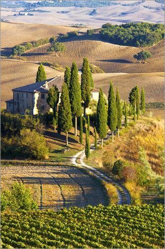 Belvedere Haus in San Quirico in der südlichen Toskana Bilder: Poster von Terry Eggers bei Posterlounge.de