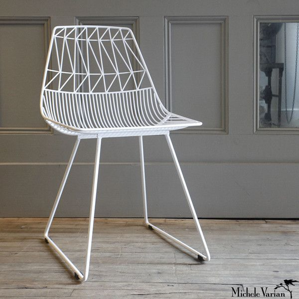 Michele Varian - White Wire Chair