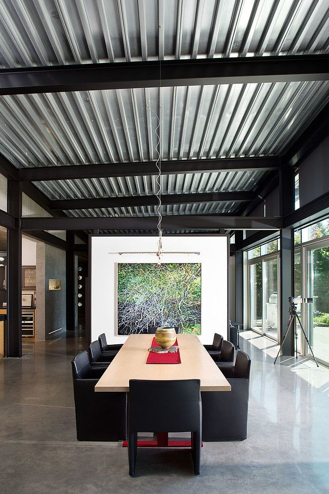 Gisby Residence Porch Roof Steel House Metal Roof