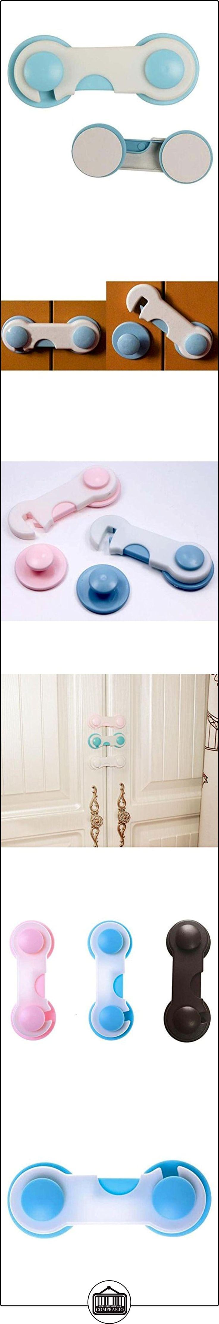 Highdas Gabinete Cajón Frigorífico Refrigerador Armarios Adhesivo Cerraduras Seguras Cierre de clip para bebés Blue 6 Packs  ✿ Seguridad para tu bebé - (Protege a tus hijos) ✿ ▬► Ver oferta: http://comprar.io/goto/B01MU8PUUG