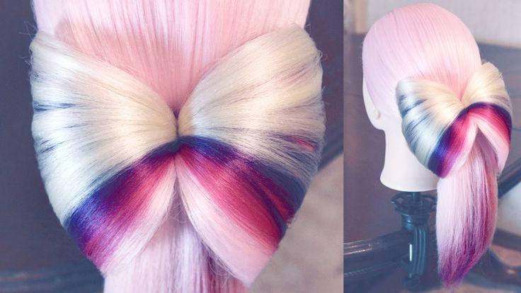 Причёска - Хвост с бантом
