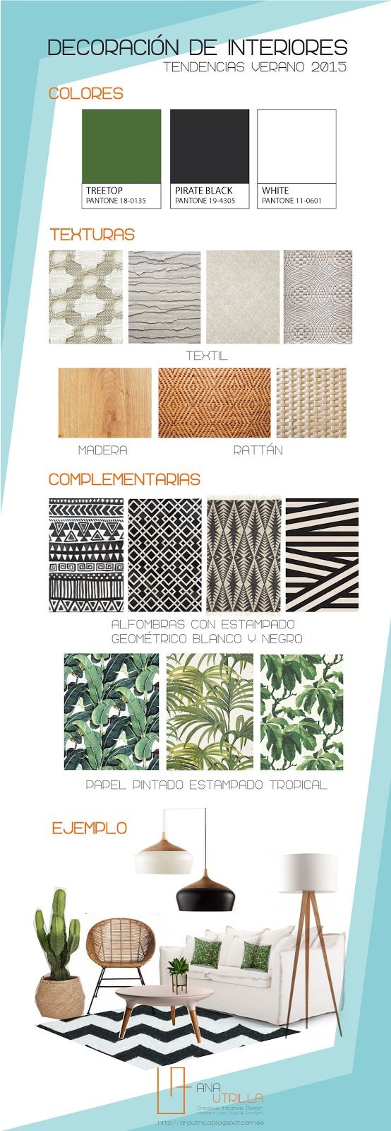 Decorar espacios con tendencia tropical 2015                                                                                                                                                                                 More