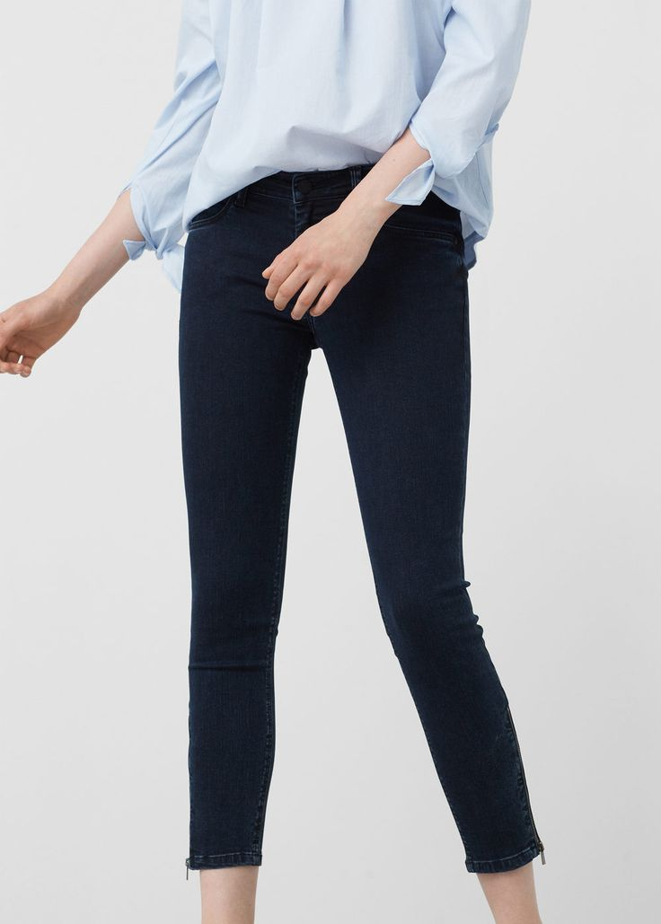 Skinny crop tattoo jeans - Jeans for Woman | MANGO Romania