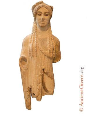 The is the Kore, young women, statue, used for memorials. It is from the Acropolis Museum109_0986b_jpg.jpg 300×400 pixels