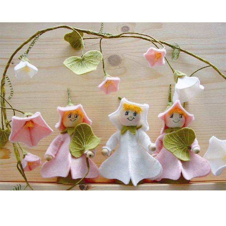 Gratis viltpatroon voor het maken van bloemenmeisjes Winde.