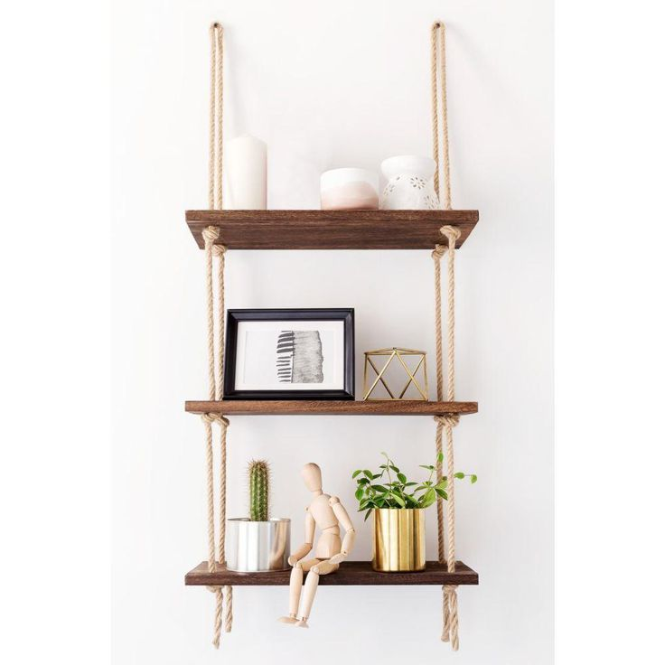 Practical Hanging Shelf – Jute and Wood
