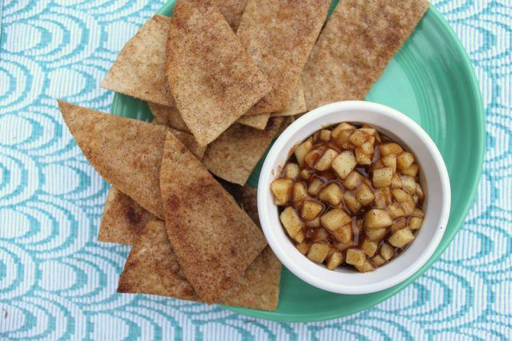 Apple Pie Dip with Cinnamon Tortilla Chips