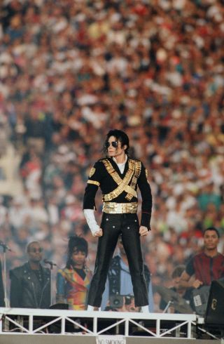 A look back at the 29 best fashion moments from the Super Bowl Halftime Shows: Michael Jackson