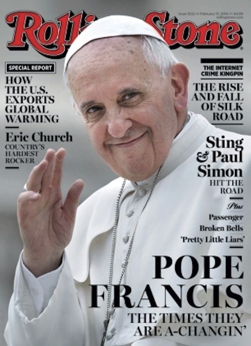 No other Pope has been on the cover of Rolling Stone!  #itoldyouthismanrocked