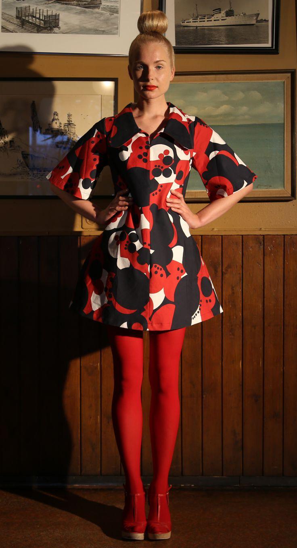 Ivana Helsinki AW13 collection: Lonnie red dress  #ivanahelsinki #fashionflashfinland #fashion #fashiondesigner #designer #aw13 #collection #Finland #Helsinki