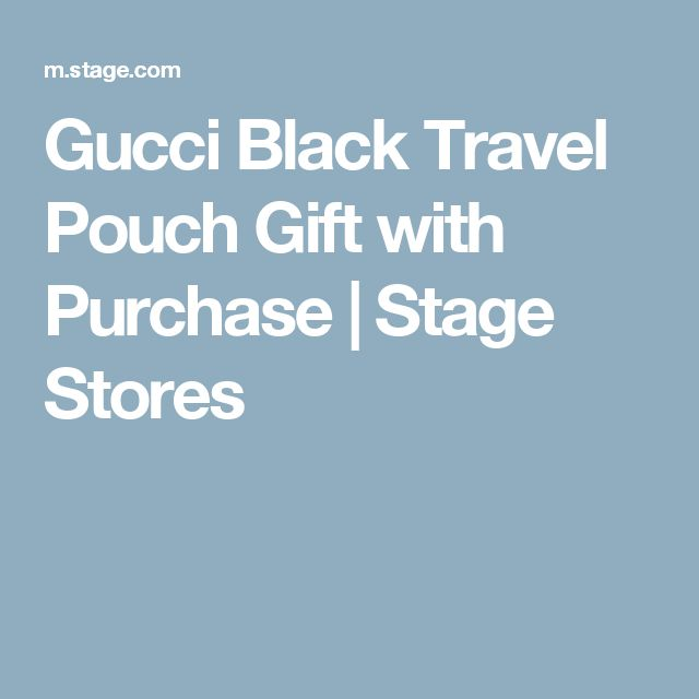Gucci Black Travel Pouch Gift with Purchase | Stage Stores