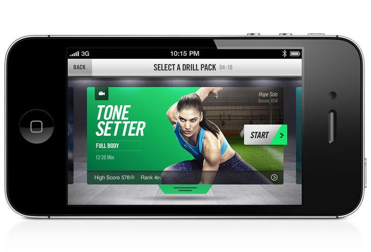 Nike+ Training on Behance
