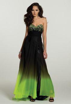 Green black and white bridesmaid dresses