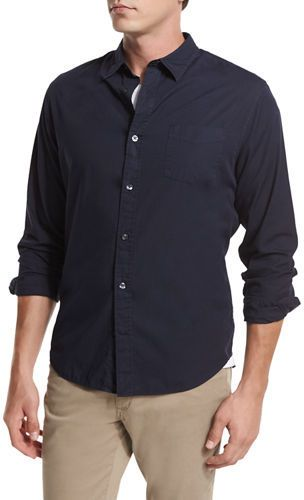 Vince Garment-Washed Oxford Shirt