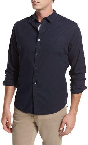 Vince Garment-Washed Oxford Shirt