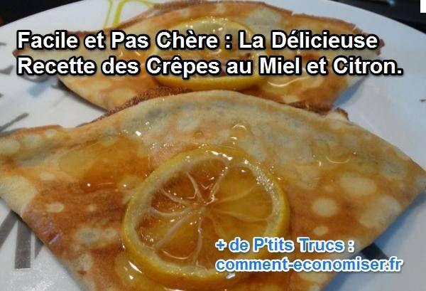 Jusqu'alors, ma fille adorait les manger avec du citron et du sucre. Mais ça c'était avant... Avant qu'on ne découvre les crêpes au miel et au citron.  Découvrez l'astuce ici : http://www.comment-economiser.fr/recette-facile-pas-cher-crepes-miel-citron.html?utm_content=buffer1ecce&utm_medium=social&utm_source=pinterest.com&utm_campaign=buffer