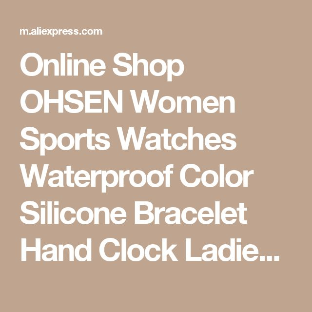 Online Shop OHSEN Women Sports Watches Waterproof Color Silicone Bracelet Hand Clock Ladies Small Digital Led Display Watch Relogio Feminion | Aliexpress Mobile