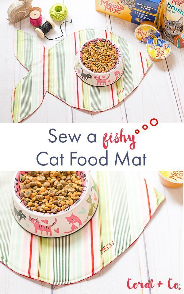 DIY Sew a Fishy Cat Food Mat Tutorial – Pet Food Mat | Coral + Co.