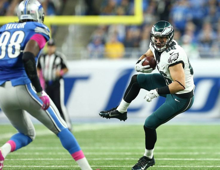 Eagles vs. Lions:  24-23, Lions, October 9, 2016  -      Philadelphia Eagles tight end Zach Ertz (86) makes a catch during the first half of a game against the Detroit Lions at Ford Field. (Mike Carter|USA TODAY Sports)