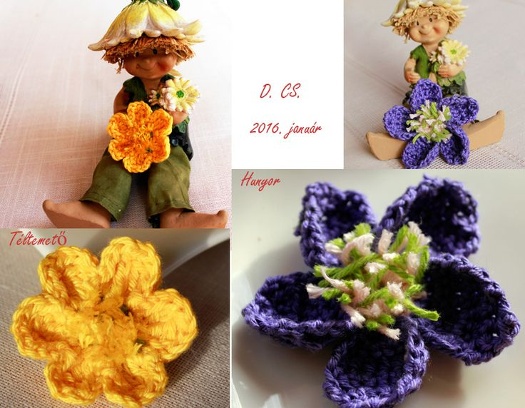 Crochet hellebore and winter aconite