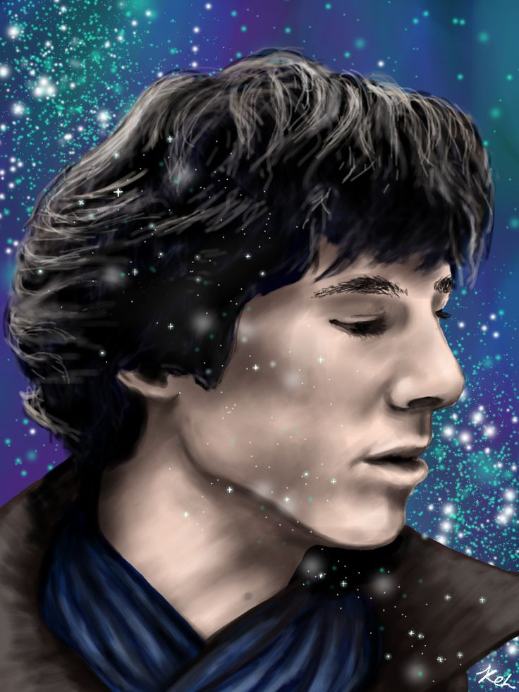 Sherlock fan art drawn on the drawcast app <3 benedict cumberbatch