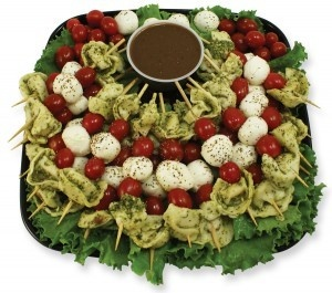 Tortellini Skewer Platter with Balsamic Dipping Sauce