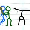 Warner Wars: Fighting Game a scorrimento orizzontale come i vecchi giochi arcade stile Double Dragon. La grafica è Stickman Doodle, ma ci sono diversi tipi di nemici con diverse armi e voi potrete anche raccoglierle  #stickfigure #stickman #stickmangames #flashgames #games