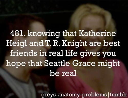 I've got Grey's Anatomy Problems..........
