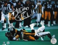 "Autographed Louis Lipps Pittsburgh Steelers 8x10 Photo Inscribed ""Go Steelers"""