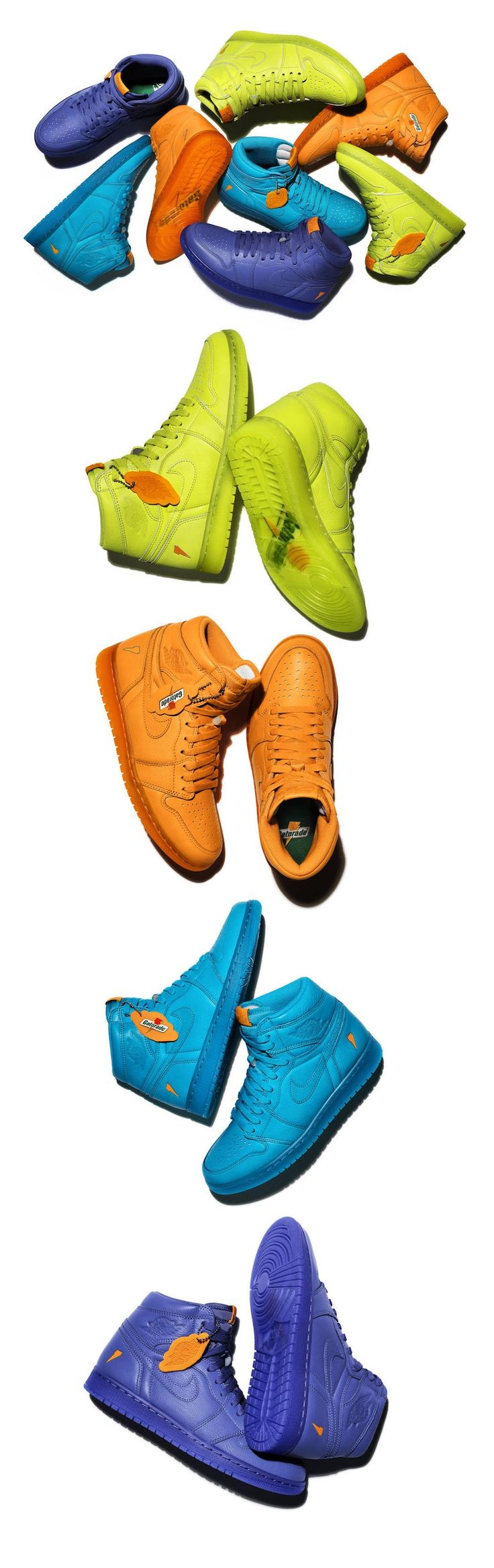 Sneaker Review: Air Jordan 1 Retro Gatorade Pack – Purchase Links #Gatorade #AirJordan #JordanBrand