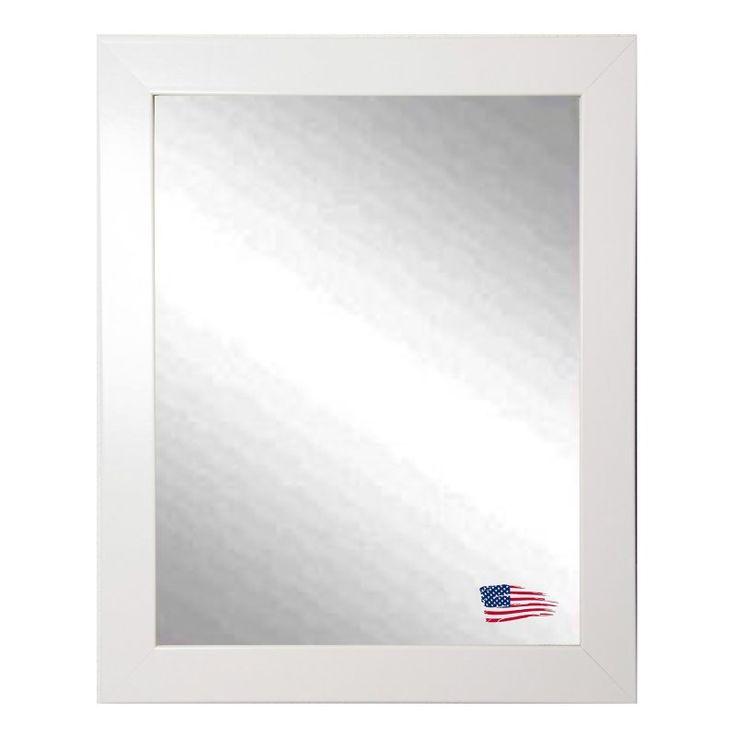 Rayne Mirrors Polished White Wall Mirror - V0021
