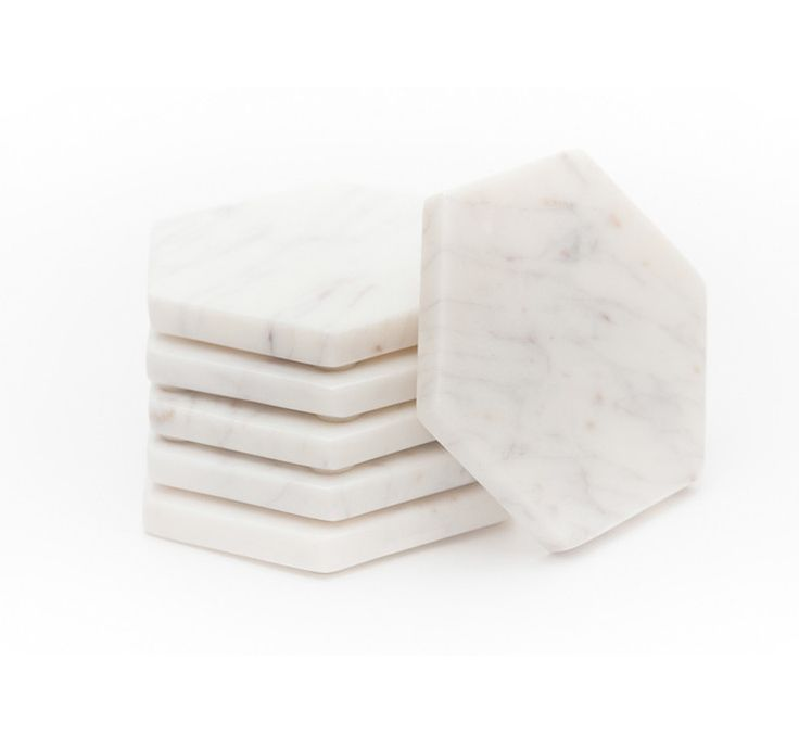 The Home Journal -- marble coasters