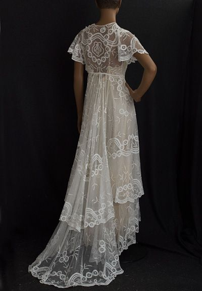 1910 Princess Lace Wedding Dress