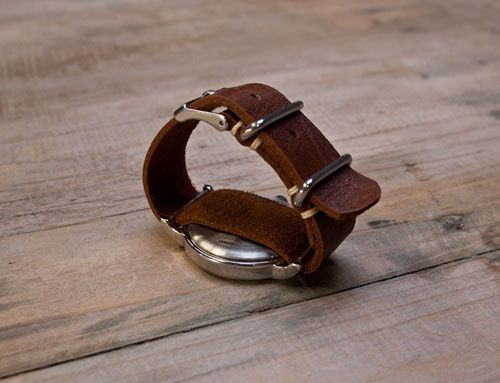 Make your own watch strap! Love it! You can choose your own leathers - soft, structural or brightly coloured! You could even make one of those awesome strappy wraparound type bands. SO COOL.