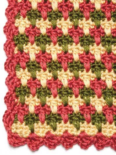 Garden Plaid crochet Throw