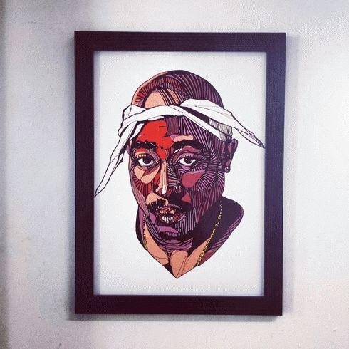 LUKE DIXON - TUPAC - LIMITED EDITION A3 #thebearhugco #tupac #classics