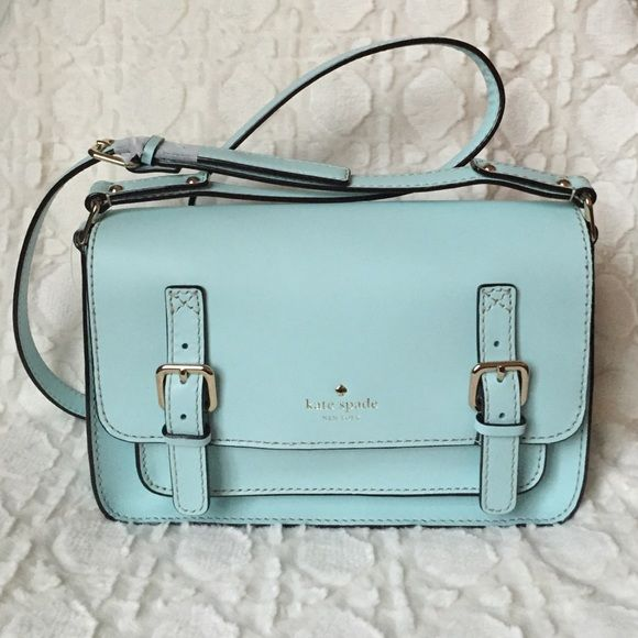 kate spade new york Essex Scout Crossbody CY Blue kate spade new york Essex Scout Crossbody CY Blue. Small crossbody Leather with designer logo and buckle details at front Adjustable strap Flap opening with hidden magnetic closures and slip pocket underneath Signature woven lining with a zip pocket Body length 10¼ inches; height 6½ inches; width 3 inches Strap drop 22 inches Material: Leather Brand: kate spade new york kate spade Bags ...